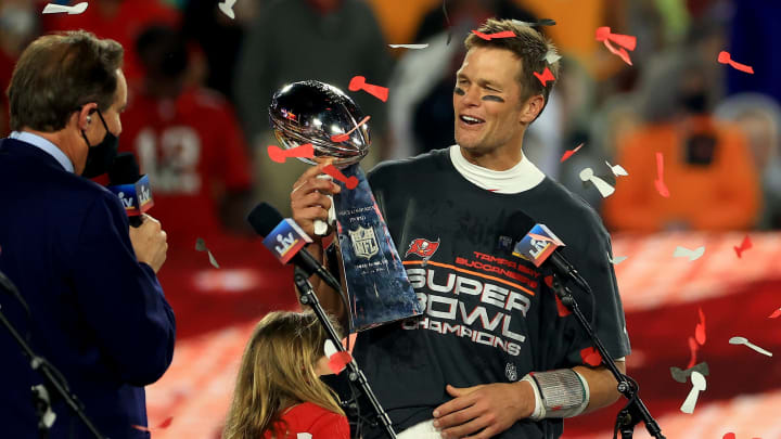 Tom Brady has now won seven Super Bowls — more than any single franchise in NFL history.