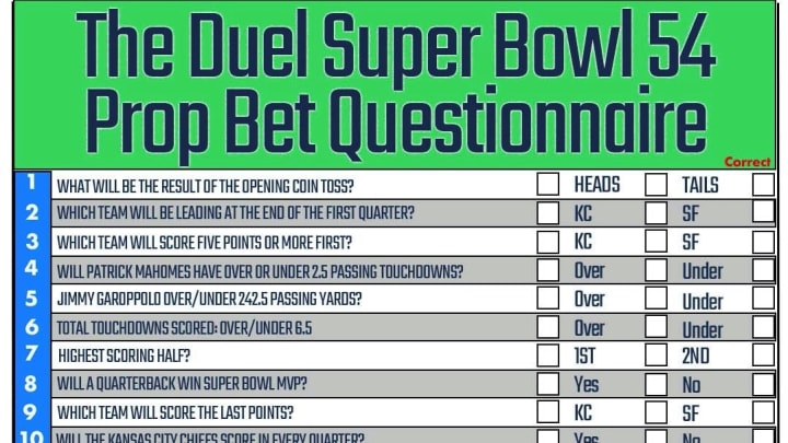 A List of Fun Prop Bets for Super Bowl Fans