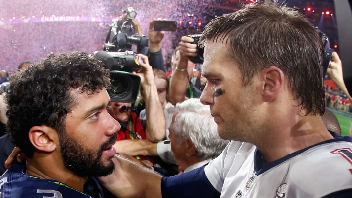 Russell Wilson and Tom Brady.