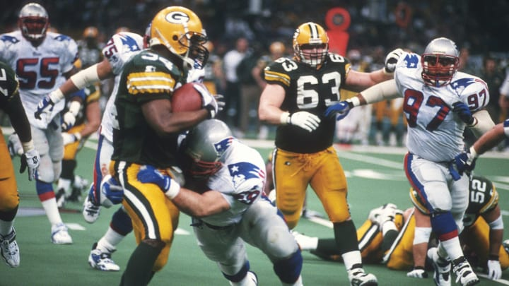 Super Bowl XXXI featured a matchup between the New England Patriots and Green Bay Packers.
