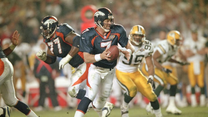 Elway won his first Super Bowl during the 1997 season, sacrificing his body on a clutch scramble late in the game.