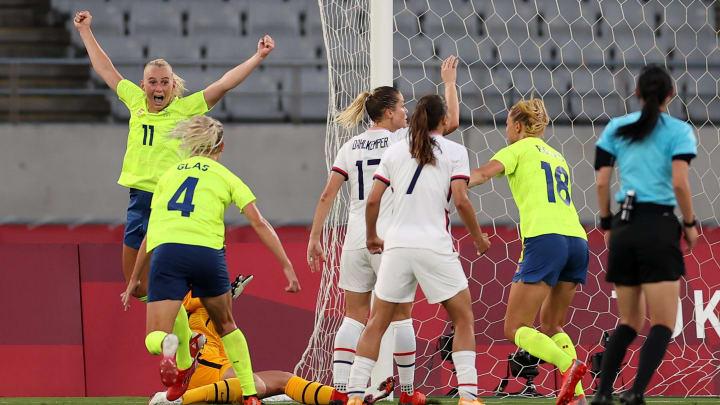 Vitória por 3 a 0 foi um ótimo início   Sweden v United States: Women's Football - Olympics: Day -2