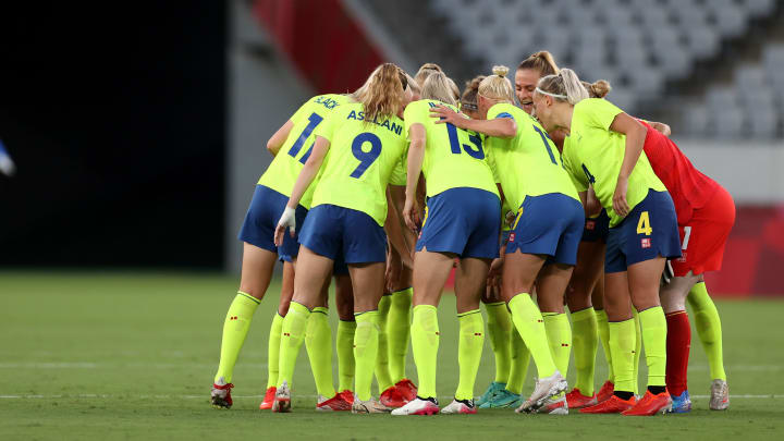 Sweden made the headlines on day one of the women's football tournament at the Olympics