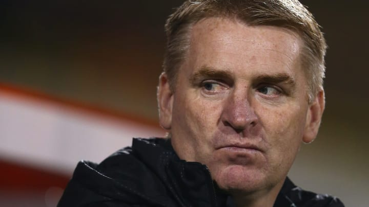 SWINDON, ENGLAND - NOVEMBER 24:  Dean Smith the manager of Walsall looks on during the Sky Bet League One match between Swindon Town and Walsall at the County Ground on November 24, 2015 in Swindon, United Kingdom.  (Photo by Michael Steele/Getty Images)