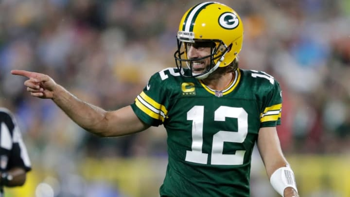 Green Bay Packers quarterback Aaron Rodgers leads his team to a 35-17 victory over the Detroit Lions on Monday Night Football in Week 2. | Dan Powers/USA TODAY NETWORK-Wisconsin