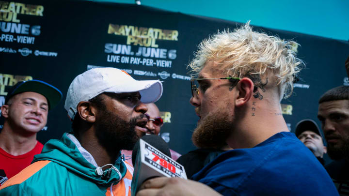 Logan Paul and Floyd Mayweather