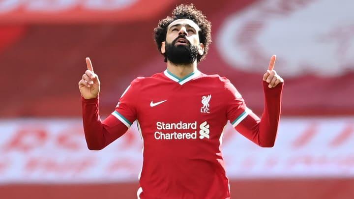 Mohamed Salah has hit the 100-goal mark