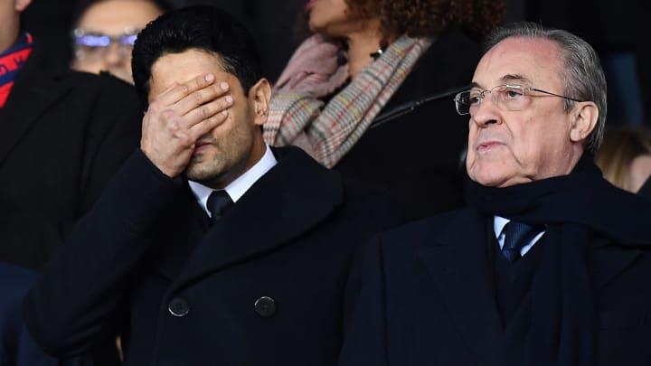 Florentino Perez (à droite) est l'instigateur de la Super League.