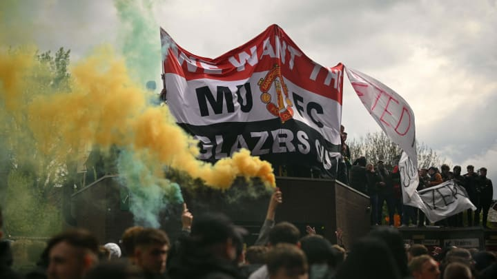 Man Utd fans stormed Old Trafford to protest against the Glazers
