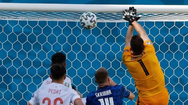 Martin Dúbravka Euro Gol contra Eslováquia