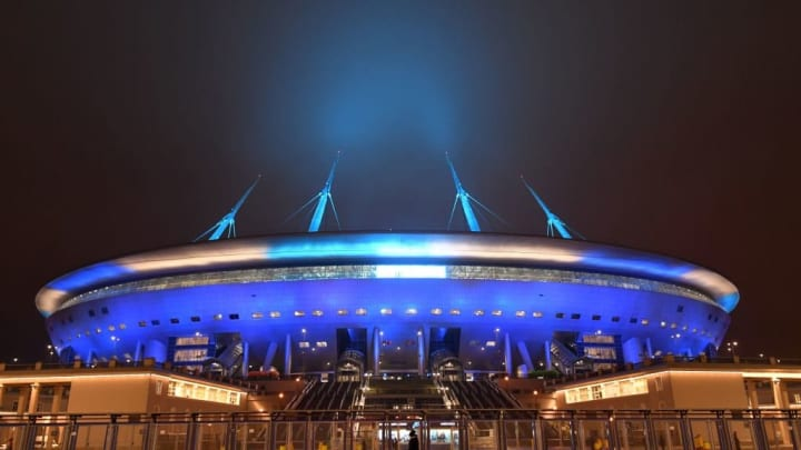 The Gazprom stadium is sure to create a passionate atmosphere