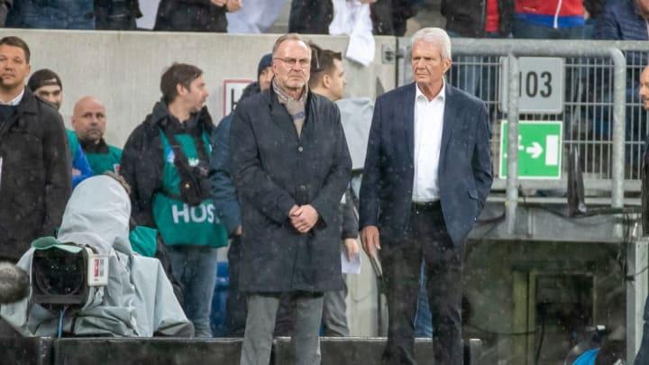 Die aktiven Fanszenen sind Karl-Heinz Rummenigge (l.) nicht erst seit den Vorkommnissen in Hoffenheim Anfang Februar ein Dorn im Auge