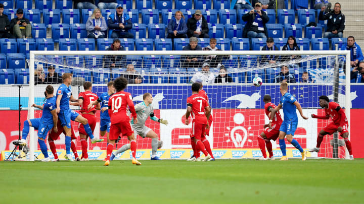 The Bayern Munich players look on as Hoffenheim take a lead they wouldn't concede for the remainder of the match