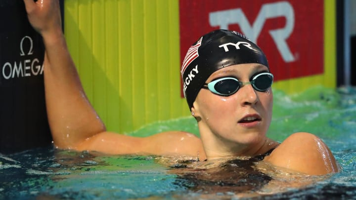 Katie Ledecky at the TYR Pro Swim Series at Des Moines