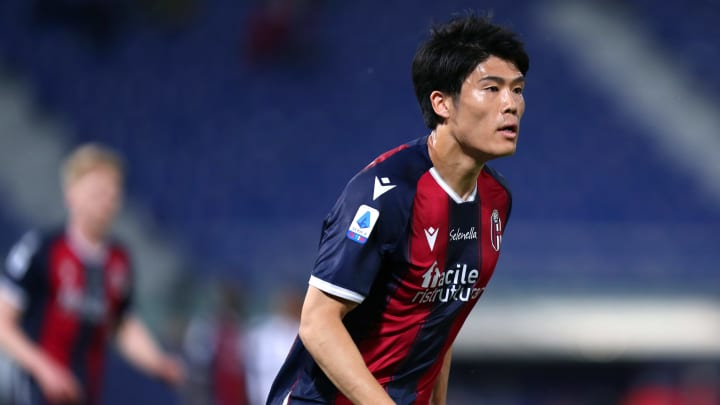 Takehiro Tomiyasu is linked with a move to Tottenham Hotspur