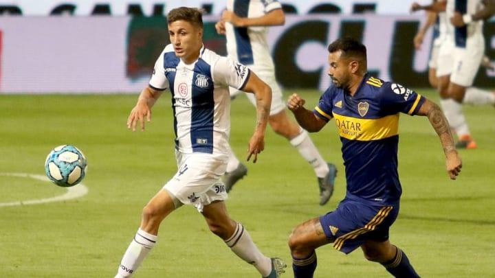 Talleres v Boca Juniors - Copa Diego Maradona 2020 - Nahuel Tenaglia le gana a Cardona.