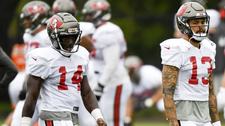 Mike Evans and Chris Godwin both see their fantasy values dip after Antonio Brown joined the Buccaneers.