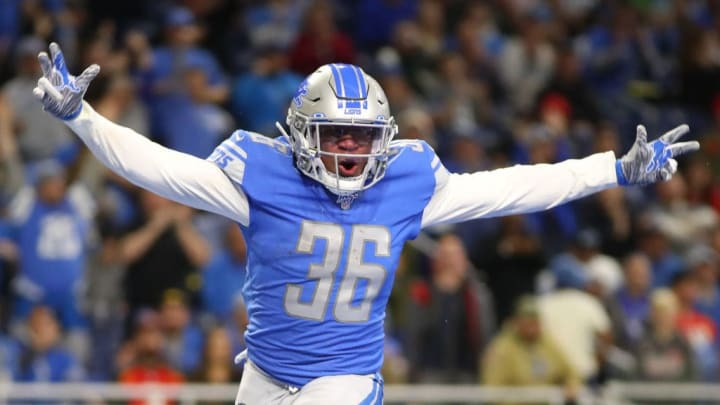 Wes Hills during a Lions game in the 2019 season