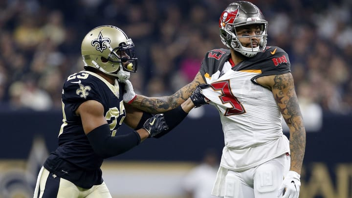 Marshon Lattimore is a thorn in Mike Evans' side.