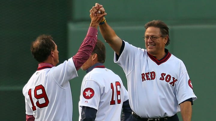 Carlton Fisk is a Boston Red Sox legend.