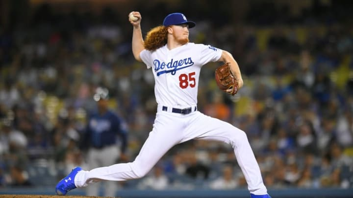 Los Angeles Dodgers right-hander Dustin May