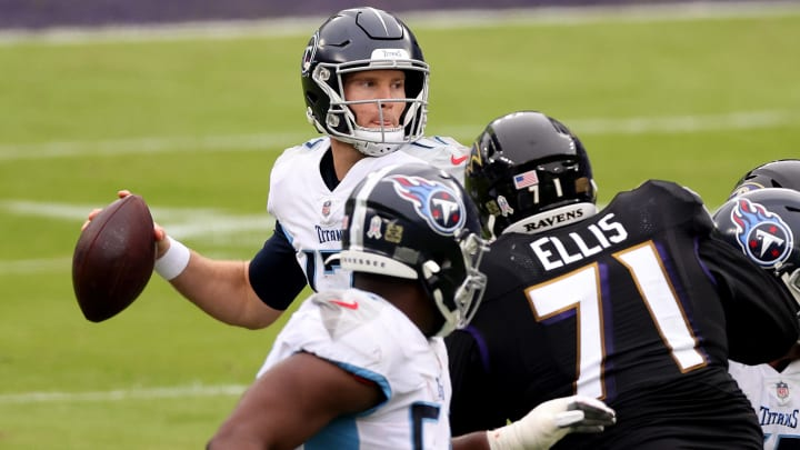 Baltimore Ravens vs Tennessee Titans odds, line, over/under, prediction for AFC Wild Card Game.