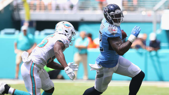 Free agent tight end Delanie Walker as a member of the Tennessee Titans