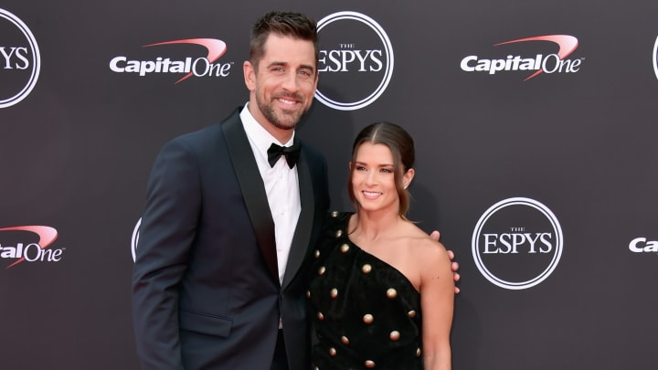 Aaron Rodgers and Danica Patrick at the 2018 ESPYS - Arrivals