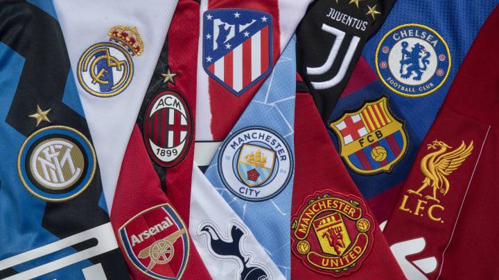 Avrupa'nın önde gelen takımlarının logoları