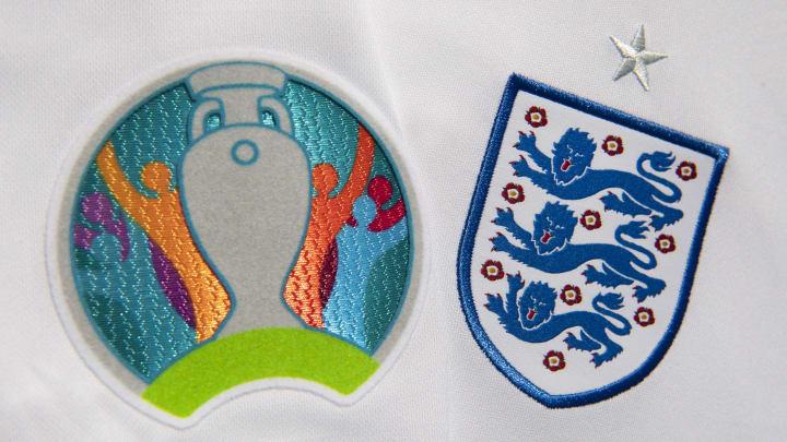 The Euros Logo and England Badge...