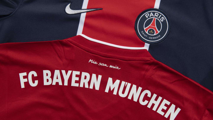 The FC Bayern Munich and Paris Saint-Germain Home Shirts