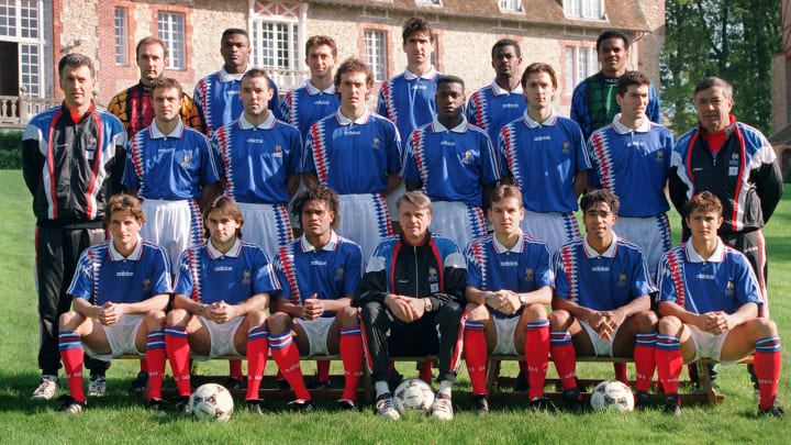 The French football team poses for the o