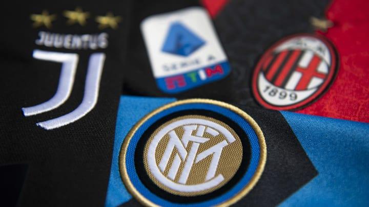 Serie A ve 3 büyük takımın logoları