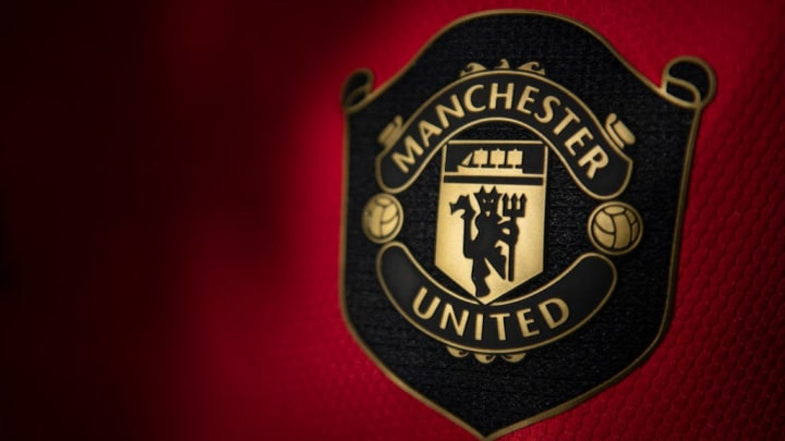 The Manchester United Club Badge on the Home Shirt