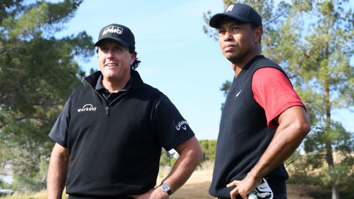 Underdogs Tom Brady and Phil Mickelson are getting big betting action ahead of their match with Tiger Woods and Peyton Manning.