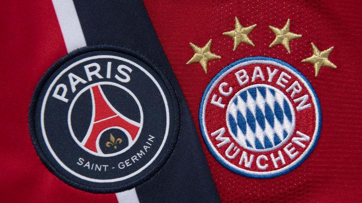 The Paris Saint-Germain and FC Bayern Munich Club Badges