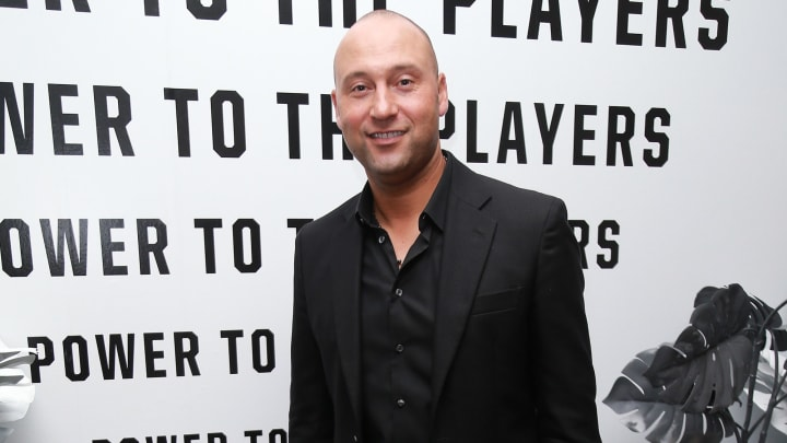 STUDIO CITY, CA - JULY 17:  Derek Jeter attends Players' Night Out 2018 hosted by The Players' Tribune on July 17, 2018 in Studio City, California.  (Photo by Leon Bennett/Getty Images for The Players' Tribune)