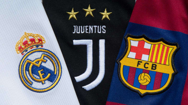 The Real Madrid, Juventus and Barcelona Club Badges