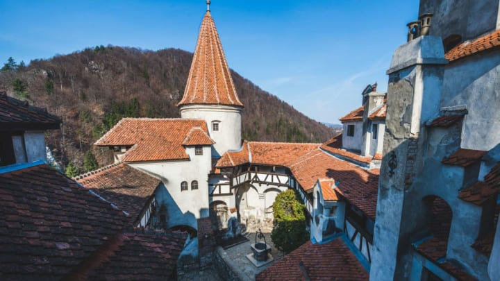 The Romanian castle of Bran ( also known as the Dracula...