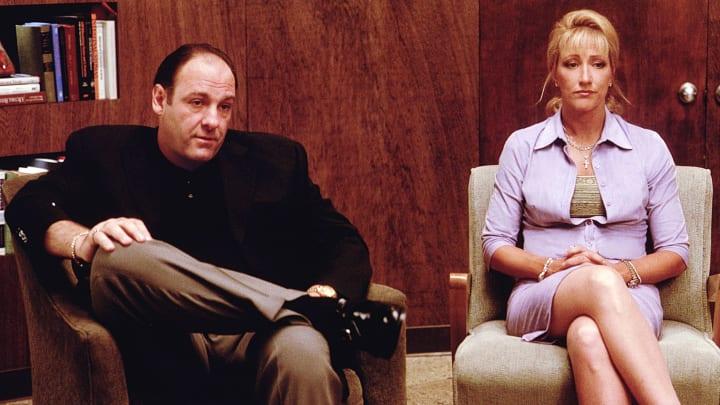 James Gandolfini and Edie Falco in The Sopranos.