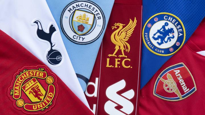 Die Logos der sechs englischen Klubs, die sich der Super League anschließen wollten.