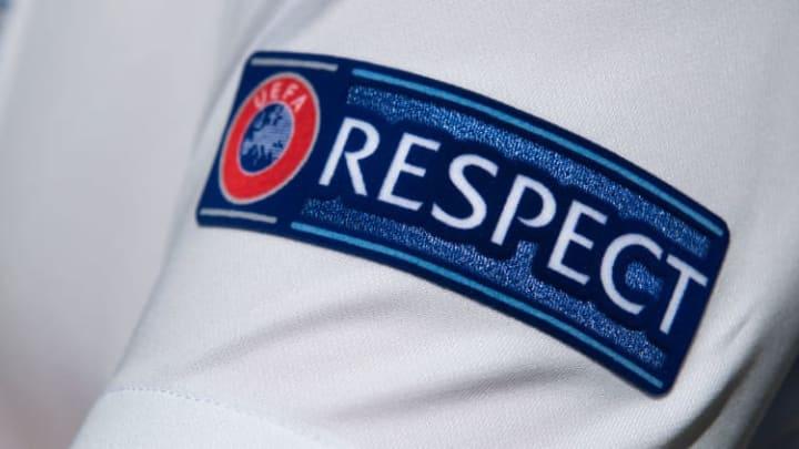 The UEFA Respect Badge on an England Shirt