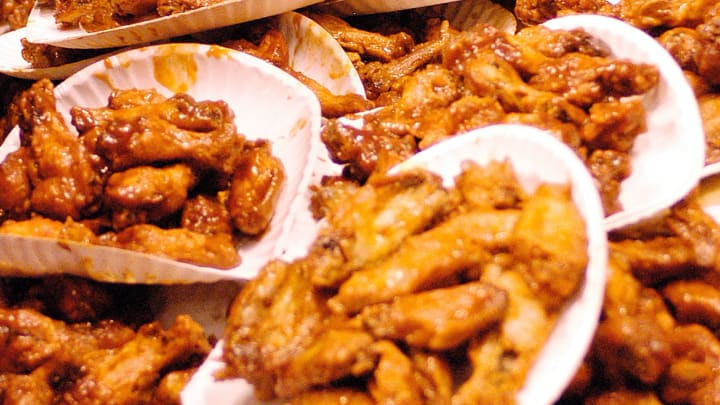 """The """"Wing Bowl"""" Buffalo Wing Eating Contest Is Held In Philadelphia"""