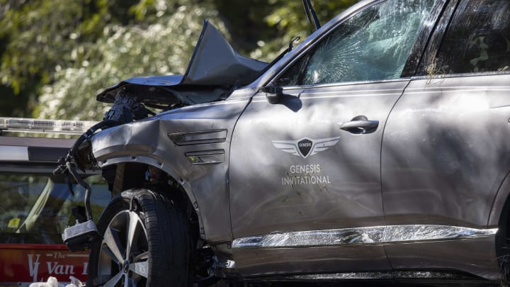 Tiger Woods' car after his crash.