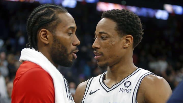 Demar Derozan, Kawhi Leonard - Toronto Raptors v San Antonio Spurs