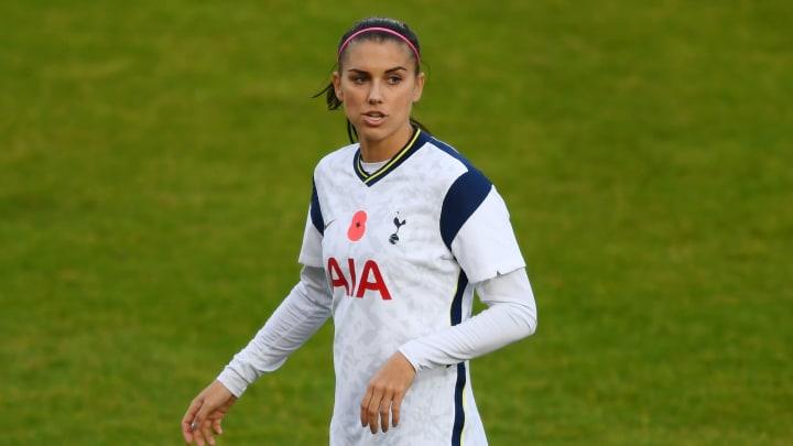 Alex Morgan made her Tottenham debut