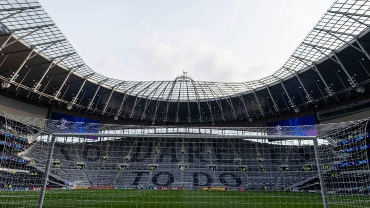 Interior view of Tottenham Hotspur stadium