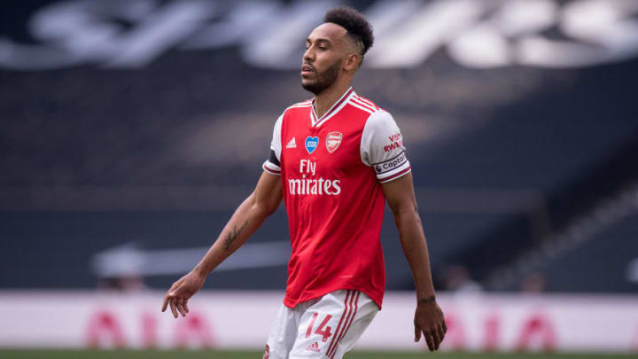 Aubameyang has scored 25 goals in all competitions for Arsenal this season