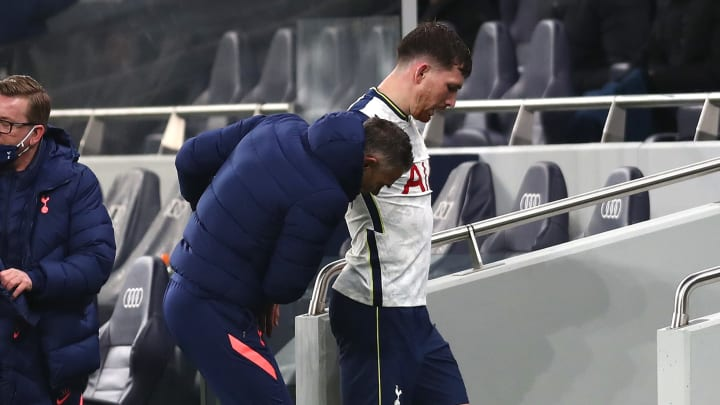 Hojbjerg was left with a number of scrapes on his shin