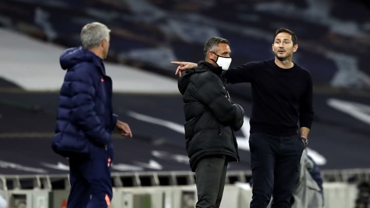 Mourinho and Lampard had a bit of a ding-dong during Tottenham's Carabao Cup clash with Chelsea